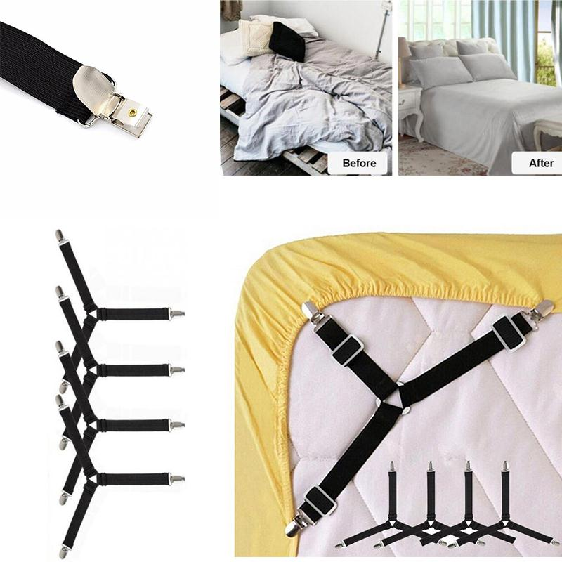 4PCS Adjustable Bed Sheet Grippers