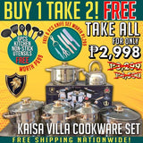 [ON SALE] BUY 1 TAKE 2 Authentic 12pcs Cookware Set w/ FREE 6PCS NON-STICK UTENSIL SET & 6 PCS KNIFE SET