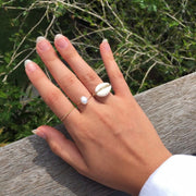 14 Kt gold freshwater pearl ring made in australia