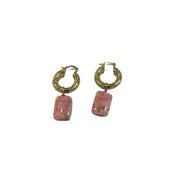 [chunky gold hoop gemstone earrings]- sustainably handmade in Australia