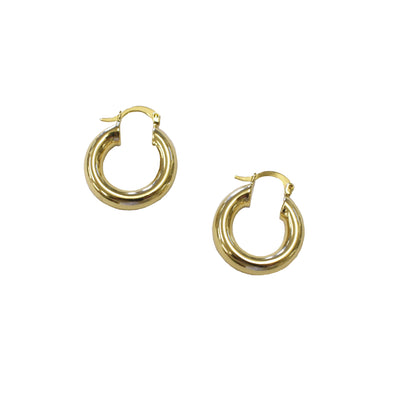 thick gold hoop earrings
