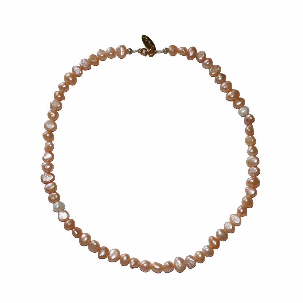 Chloe Freshwater Pearl Necklace- Pink