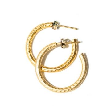 classic thick gold hoop earring