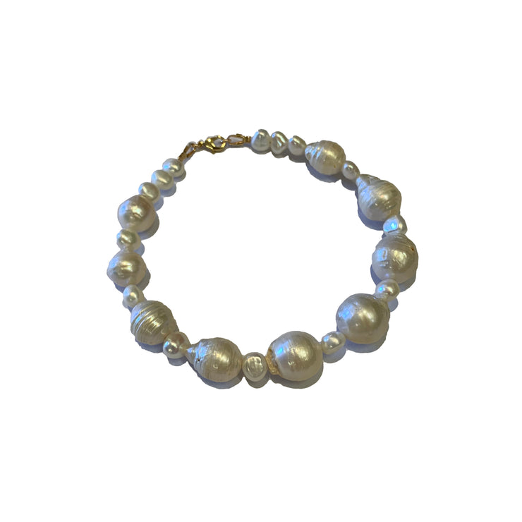 Chunky freshwater pearl anklet