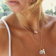 dainty pearl and gold jewellery australia-Briwok Jewellery