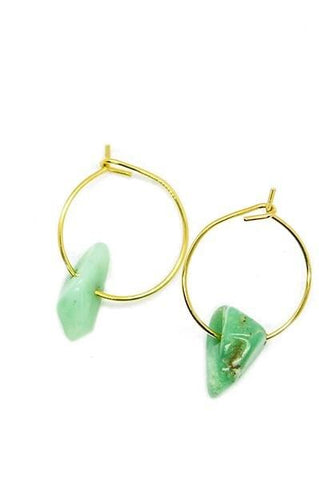 Quarry Stone Hoop Earrings