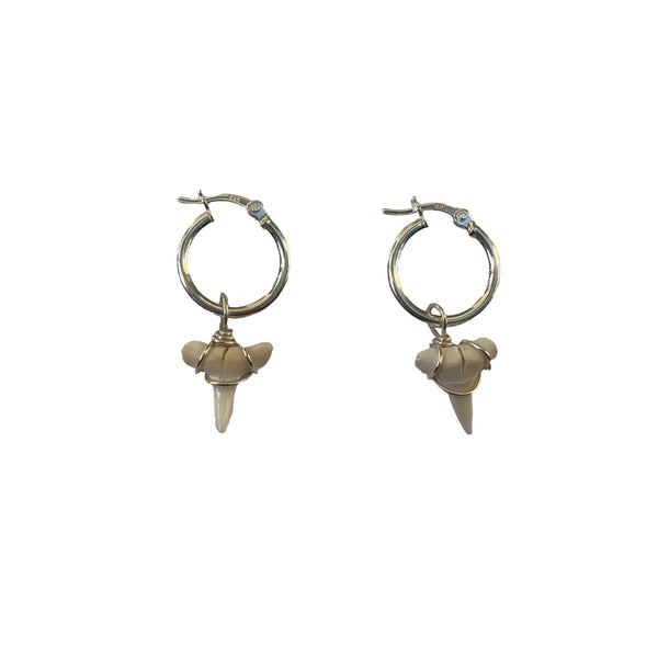 silver shark teeth earrings surf jewellery australia