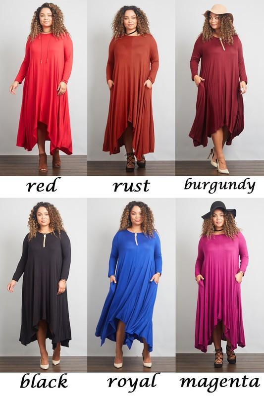 Plus, Size Casual Dress