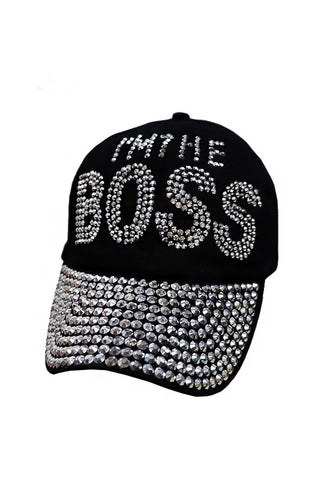 """I'M THE BOSS"" Bling Cap"