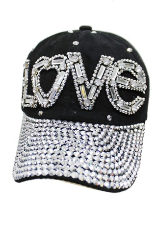 """LOVE"" Bling Cap"