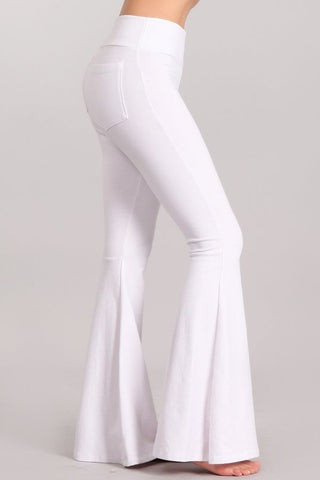 Chatoyant Mineral Wash French Terry Pants White