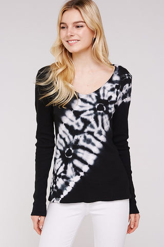 Urban X Black and White Tie Dye Thermal