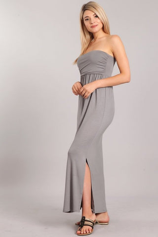 Chatoyant Tube Dress Slate Gray