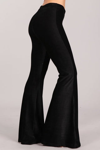 Chatoyant Plus Size Stretch Corduroy Black