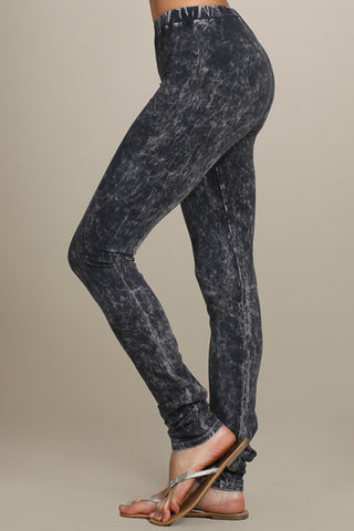 Chatoyant Mineral Wash Legging Gray