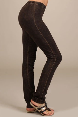 Chatoyant Mineral Wash Legging Brown