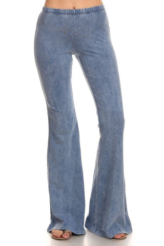 Chatoyant Mineral Wash Bell Bottoms Lt. Denim