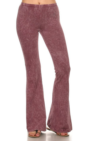 Chatoyant Mineral Wash Bell Bottoms Mauve