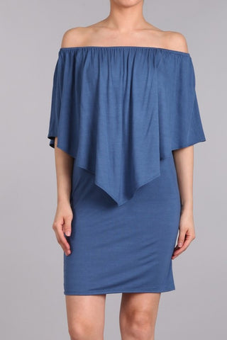 Chatoyant 4 Way Convertible Dress Denim Blue