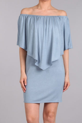 Chatoyant 4 Way Convertible Dress Steel Blue