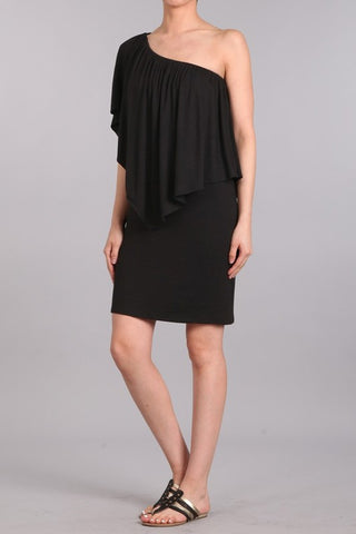 Chatoyant 4 Way Convertible Dress Black
