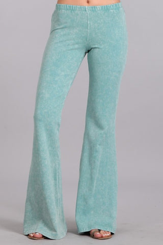 Chatoyant Mineral Wash Bell Bottoms Mint