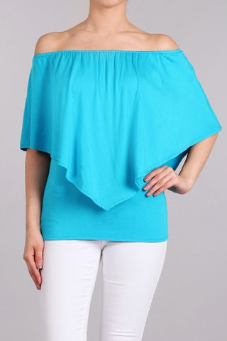 Chatoyant 4 Way Convertible Top Turquoise Blue