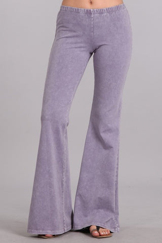 Chatoyant Mineral Wash Bell Bottoms Lilac