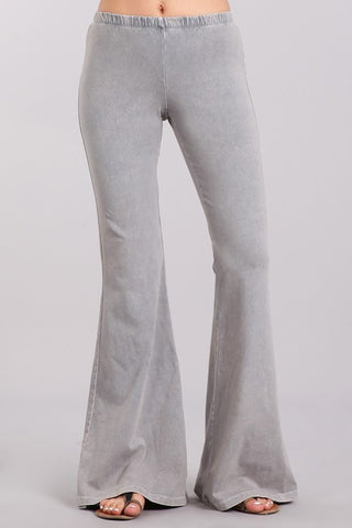 Chatoyant Mineral Wash Bell Bottoms Silver