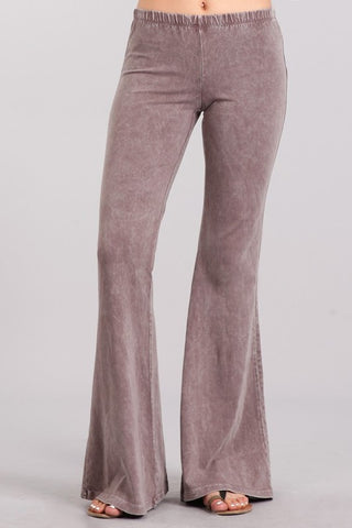 Chatoyant Mineral Wash Bell Bottoms Desert Taupe