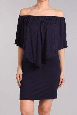 Chatoyant 4 Way Convertible Dress Navy