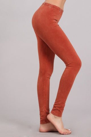 Chatoyant Mineral Wash Legging Rust