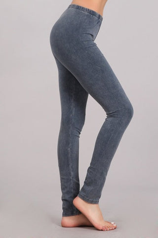 Chatoyant Mineral Wash Legging Blue Gray