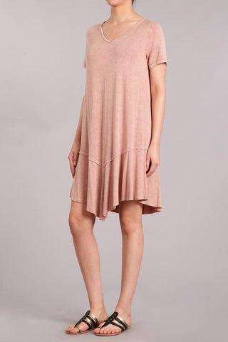Chatoyant Mineral Wash Dress