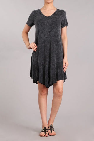Chatoyant Mineral Wash Dress Black