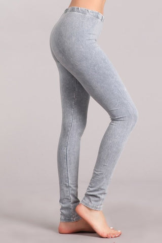 Chatoyant Mineral Wash Legging Silver