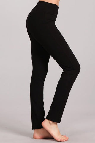 Chatoyant Slim Fit Ponte Leggings Black