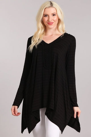 Chatoyant Flowy Top Black