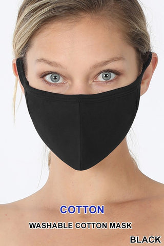 Black Washable Mask
