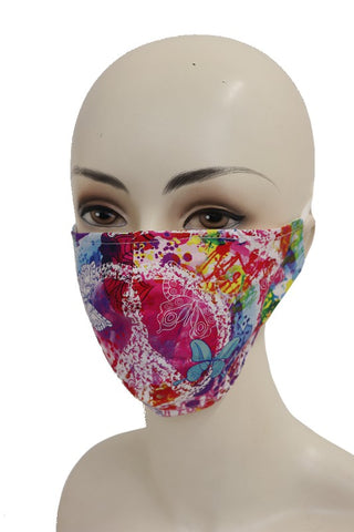 🦋 Beautiful Peace Butterfly Tie Dye Reusable Mask🦋