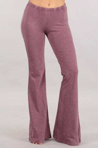 Chatoyant Mineral Wash Bell Bottoms Dusty Rose