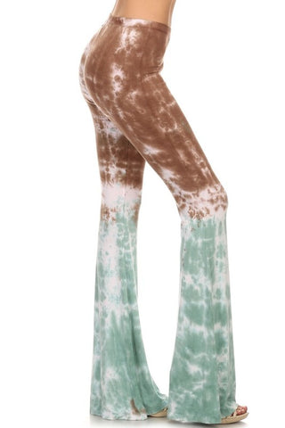 Chatoyant Brown and Mint Tie Dye