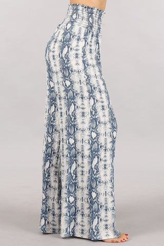 🦋 Chatoyant Crinkle Woven Boho Palazzo Pants Dusty Blue🦋