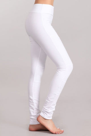 Chatoyant Skinny Moto Pants White