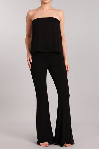 Chatoyant Tube Bell Bottoms Top Jumper