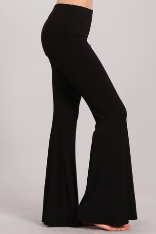 Chatoyant Ultra Soft Bell Bottoms Black