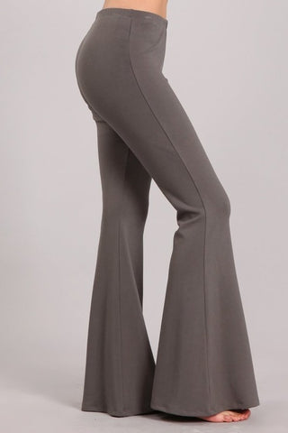 Chatoyant Ultra Soft Bell Bottoms Grey