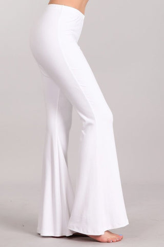 Chatoyant Ultra Soft Bell Bottoms White