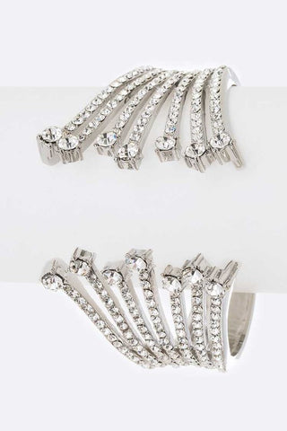 💐 Rhinestone and Rhodium Hinge Bracelet💐