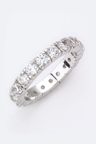 💐.Cubic Zirconia Eternity Ring💐